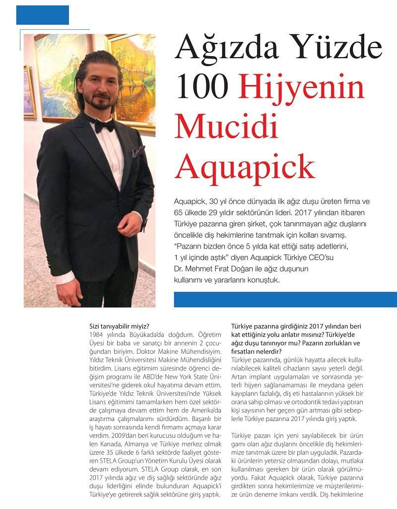 Cosmetic Dergisi Aquapick Ağız Duşu Haberi