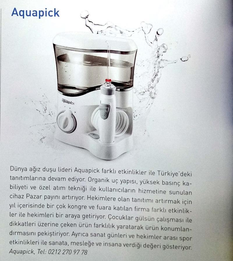 Diş Hekimliği Dergisi Aquapick Haberi