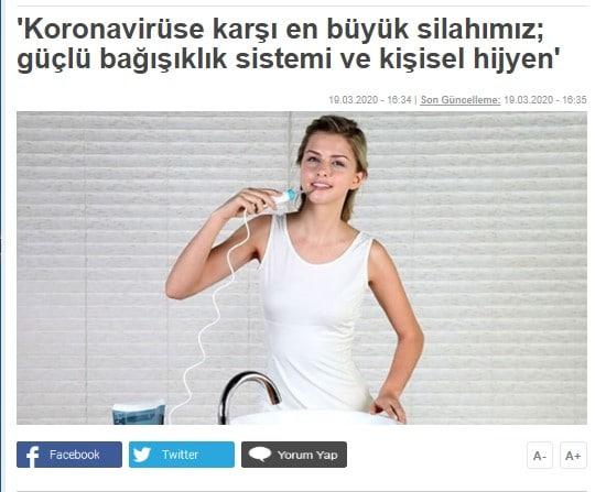 Türkiye Gazetesi Aquapick Haber Kapağı